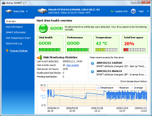 Active SMART screenshot - Hard disk monitoring software
