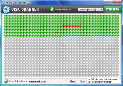 Click to view Ariolic Disk Scanner 1.4 screenshot