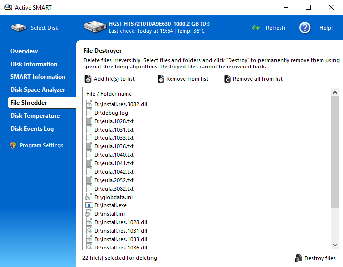 ActiveSMART - Ariolic Software - file recovery and hard